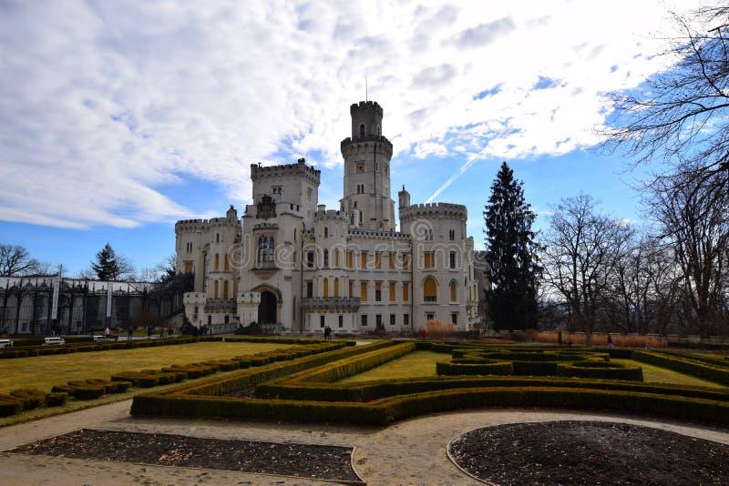 Castillo de Hluboka nad Vltavou, República Checa fotos de archivo libres de regalías