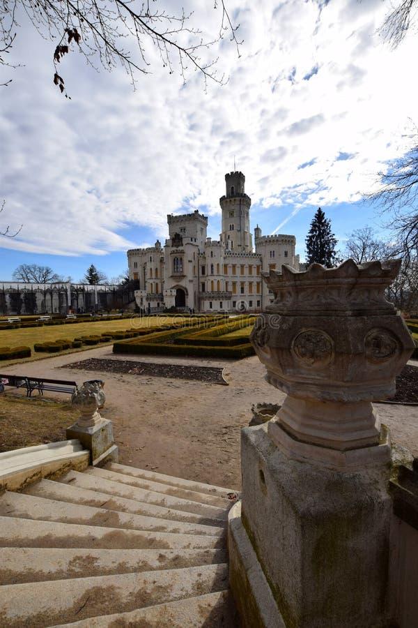 Castillo de Hluboka nad Vltavou, República Checa foto de archivo libre de regalías