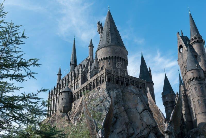 Castillo de Hogwarts de los estudios universales foto de archivo libre de regalías