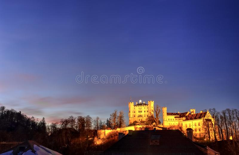 Castillo de Hohenschwangau, Alemania imagenes de archivo