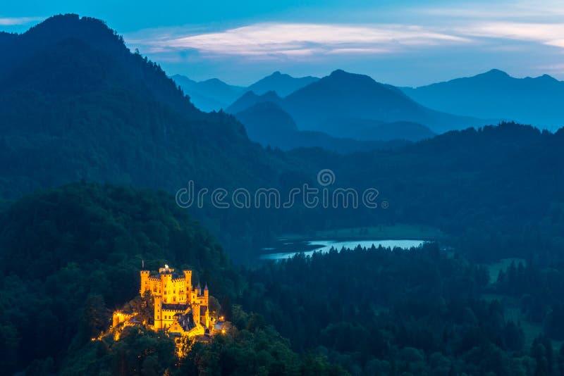 Castillo de Hohenschwangau en Baviera de Fussen, Alemania imagen de archivo libre de regalías