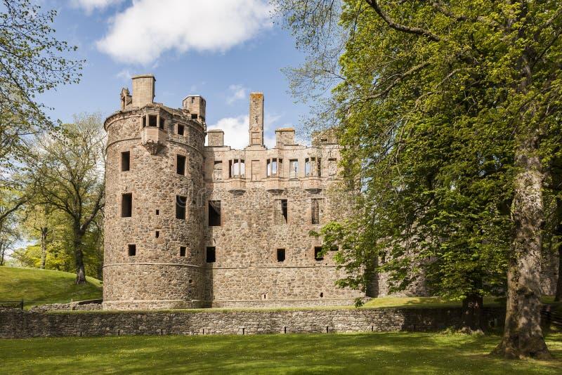 Castillo de Huntly en Escocia foto de archivo