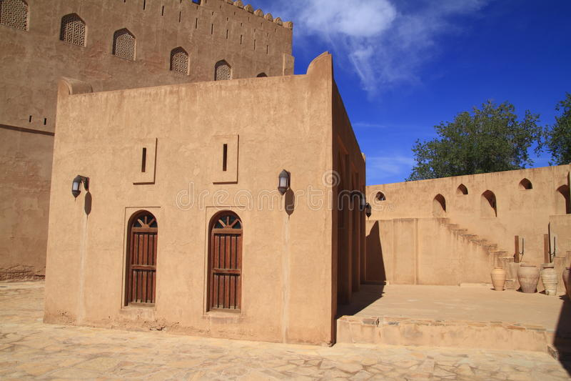 Castillo de Jabrin imagenes de archivo