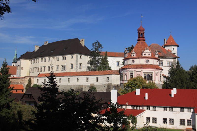 Castillo de Jindrichuv Hradec fotos de archivo