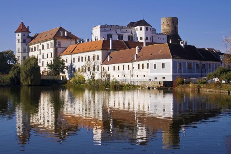 Castillo de Jindrichuv Hradec, Bohemia, checa imagen de archivo libre de regalías