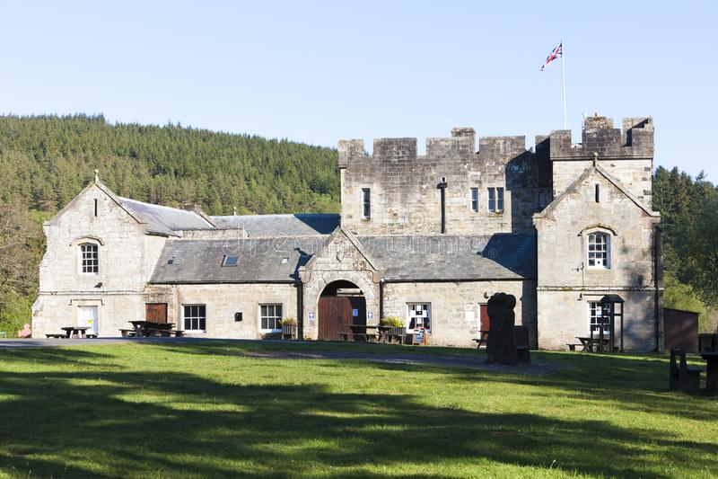 Castillo de Kielder, Northumberland, Inglaterra fotografía de archivo libre de regalías