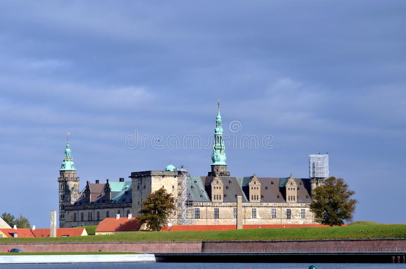 Castillo de Kronborg en Dinamarca fotografía de archivo libre de regalías