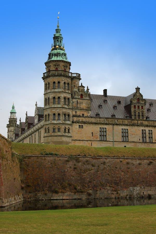 Castillo de Kronborg o de Elsinore en Copenhague, Dinamarca imagen de archivo
