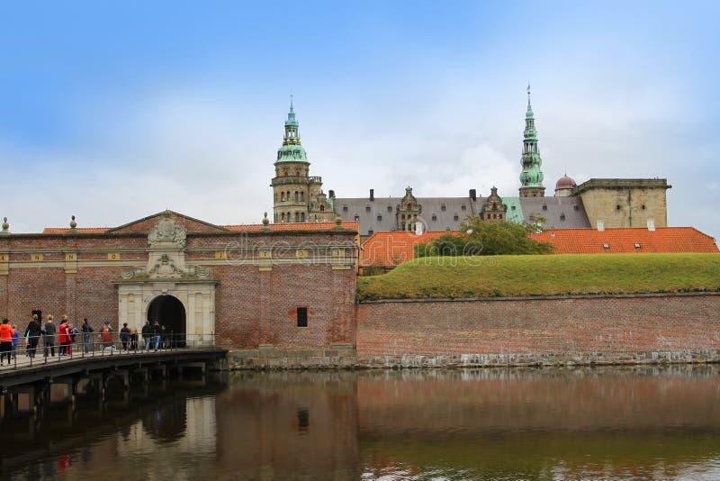 Castillo de Kronborg o de Elsinore en Copenhague, Dinamarca fotos de archivo