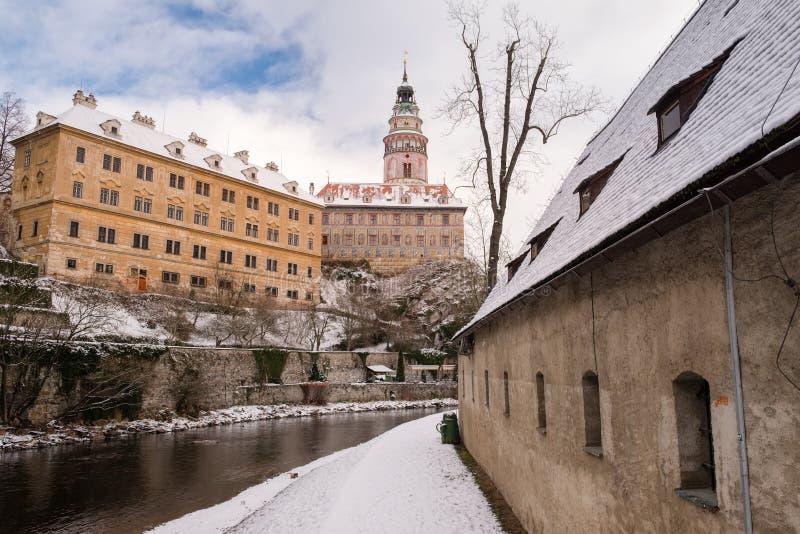 Castillo de Krumlov, República Checa imagen de archivo libre de regalías