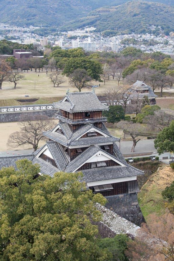 Castillo de Kumamoto en Japón fotografía de archivo libre de regalías
