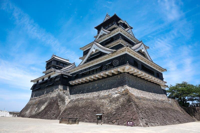 Castillo de Kumamoto en Japón imagen de archivo