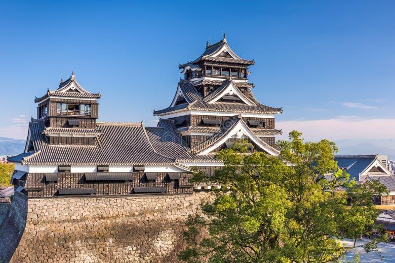 Castillo de Kumamoto en Japón imagenes de archivo
