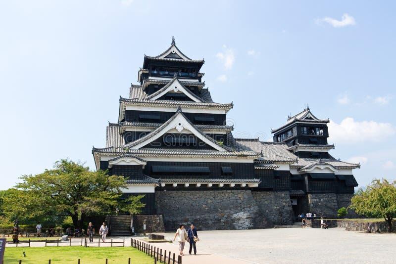 Castillo de Kumamoto en Kumamoto Japón foto de archivo libre de regalías