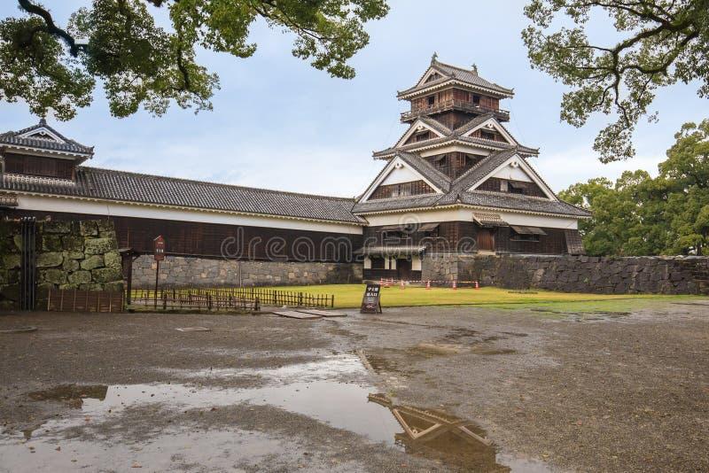 Castillo de Kumamoto en Kyushu septentrional, Japón fotografía de archivo libre de regalías
