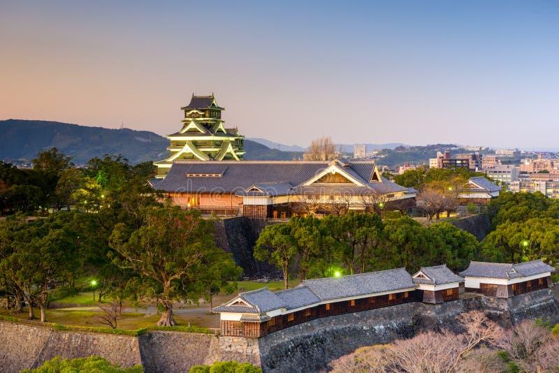 Castillo de Kumamoto, Japón foto de archivo libre de regalías