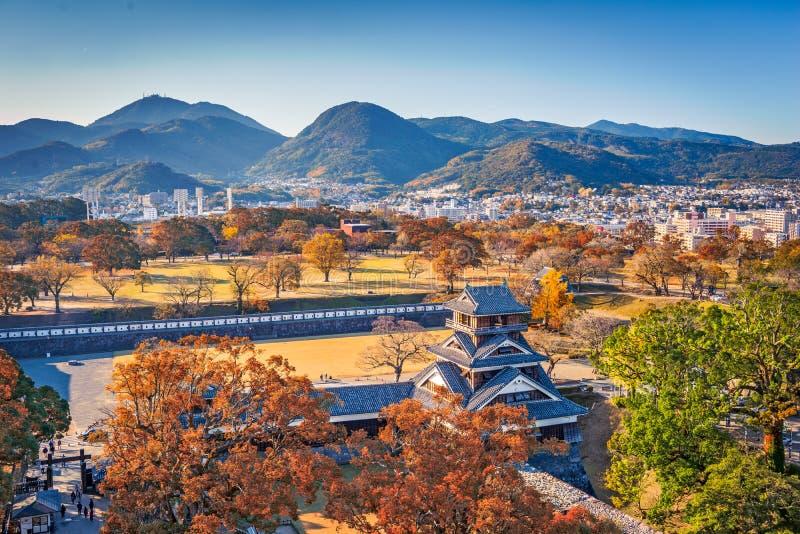 Castillo de Kumamoto, Japón imagen de archivo libre de regalías