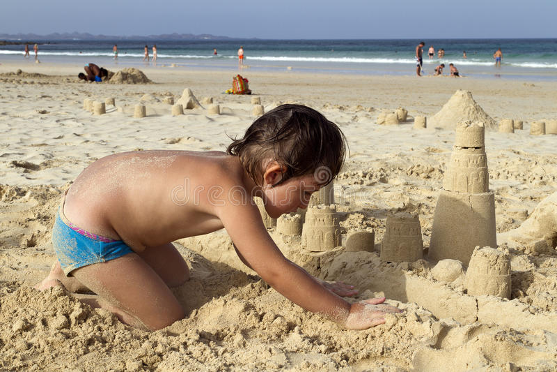Castillo de la arena imagen de archivo libre de regalías
