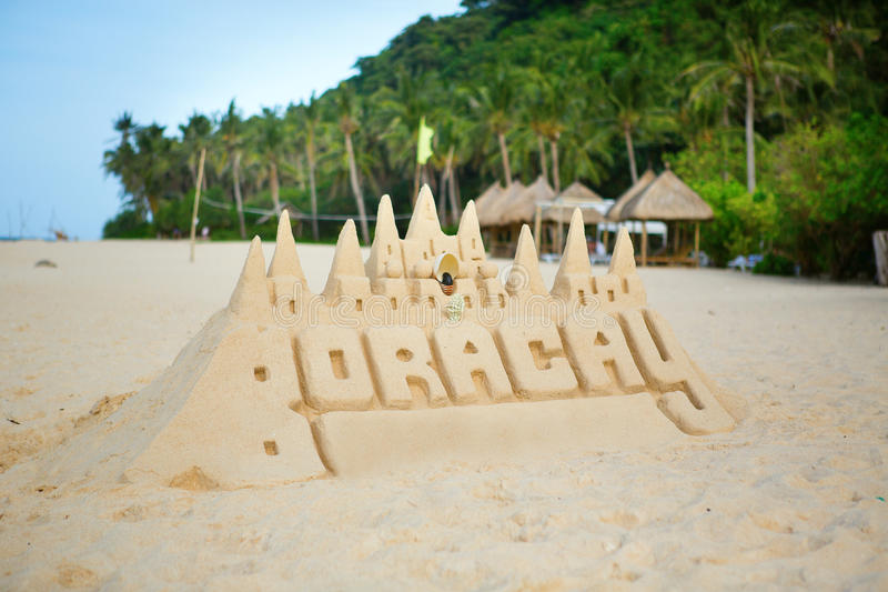 Castillo de la arena en Boracay imágenes de archivo libres de regalías