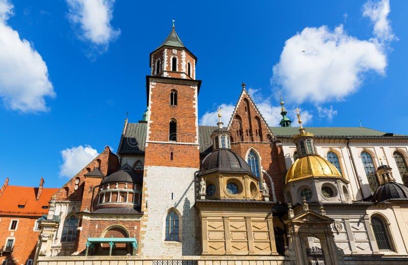 Castillo de la catedral de Wawel, Kraków, Polonia imagen de archivo libre de regalías