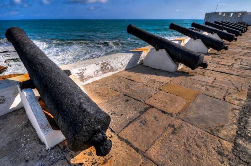 Castillo de la costa del cabo - Ghana imagen de archivo