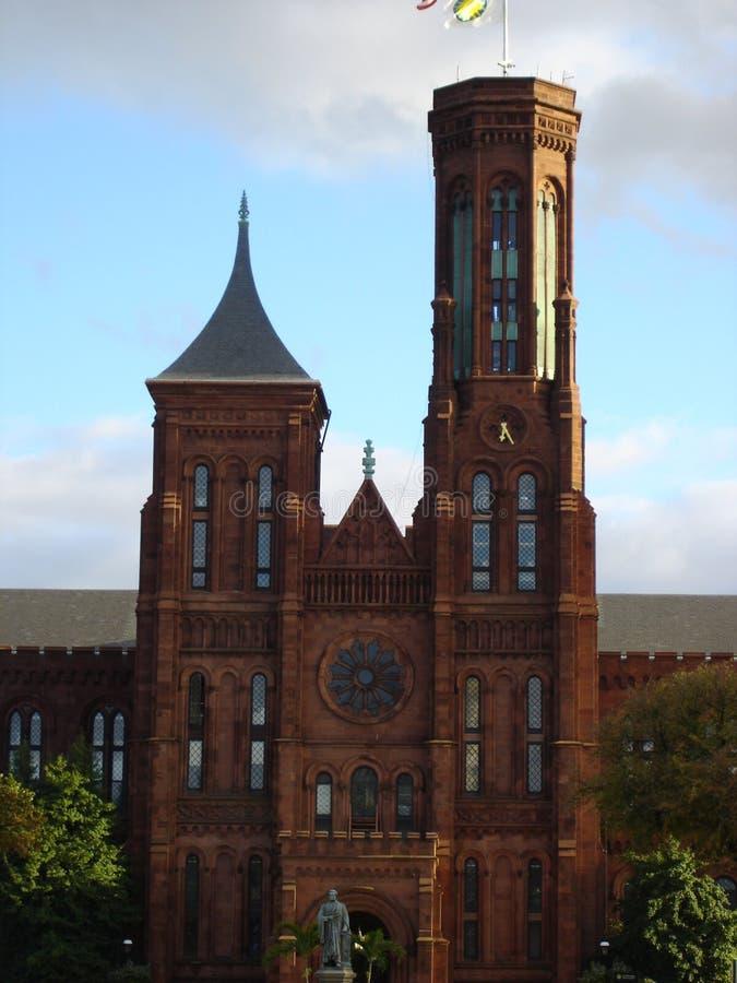 Castillo de la institución de Smithsonian fotografía de archivo