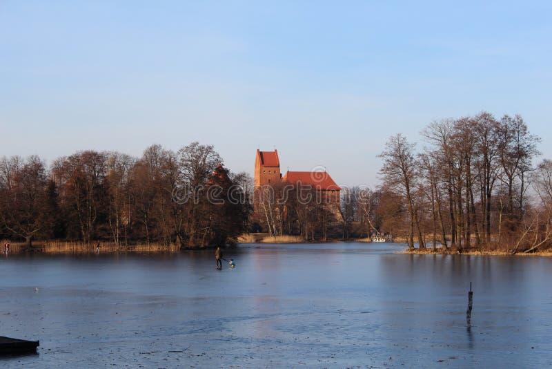 Castillo de la isla de Trakai en Lituania contry imágenes de archivo libres de regalías