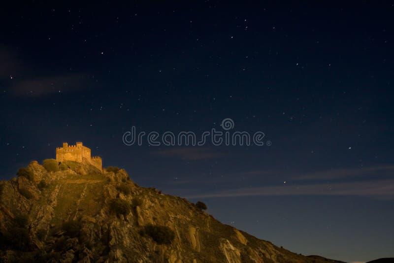 Castillo de la luz imagen de archivo libre de regalías