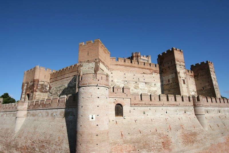 castillo de la mota arkivbild