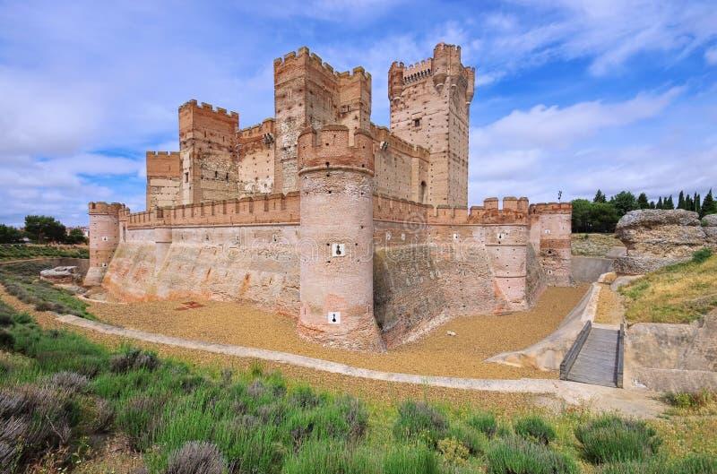 Castillo de la Mota royaltyfri bild