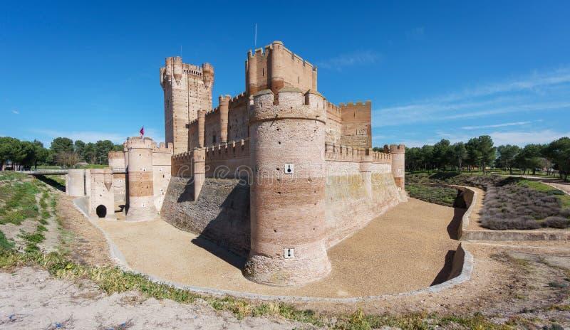 Castillo de la Mota en Medina del Campo, Castille, España imagen de archivo