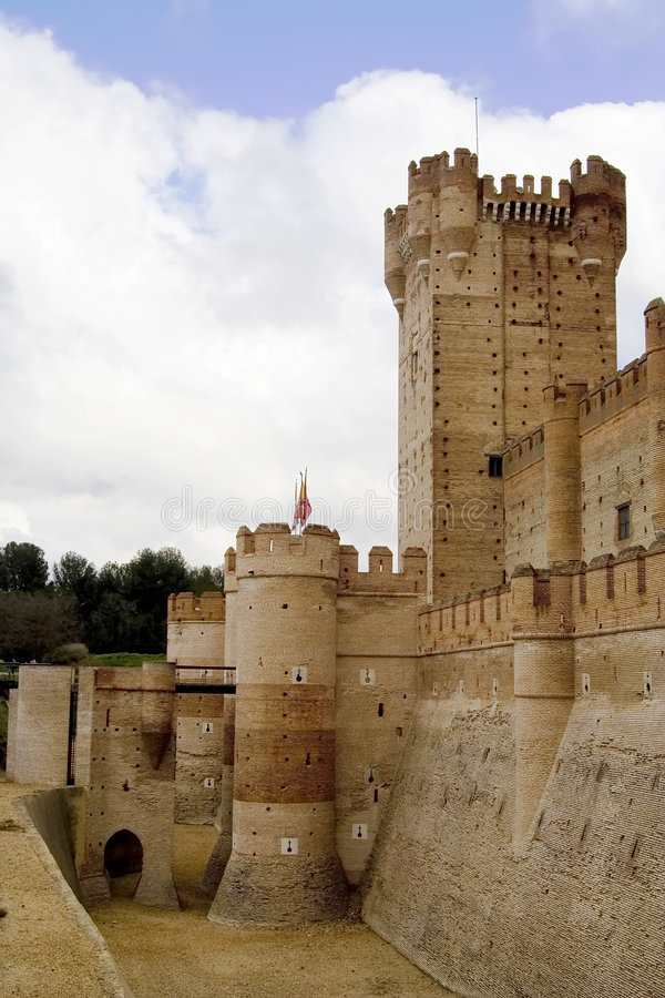 Castillo de La Mota Entrance stockfotografie