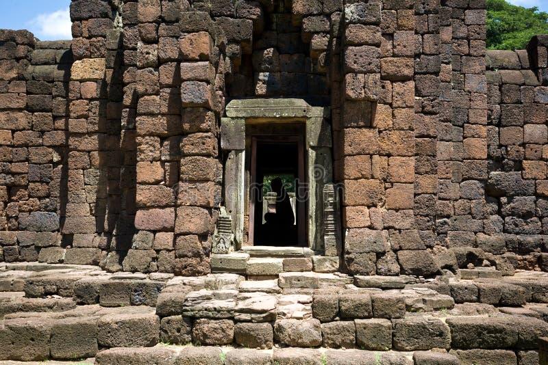 Castillo de la piedra de Phimai en Tailandia fotos de archivo libres de regalías
