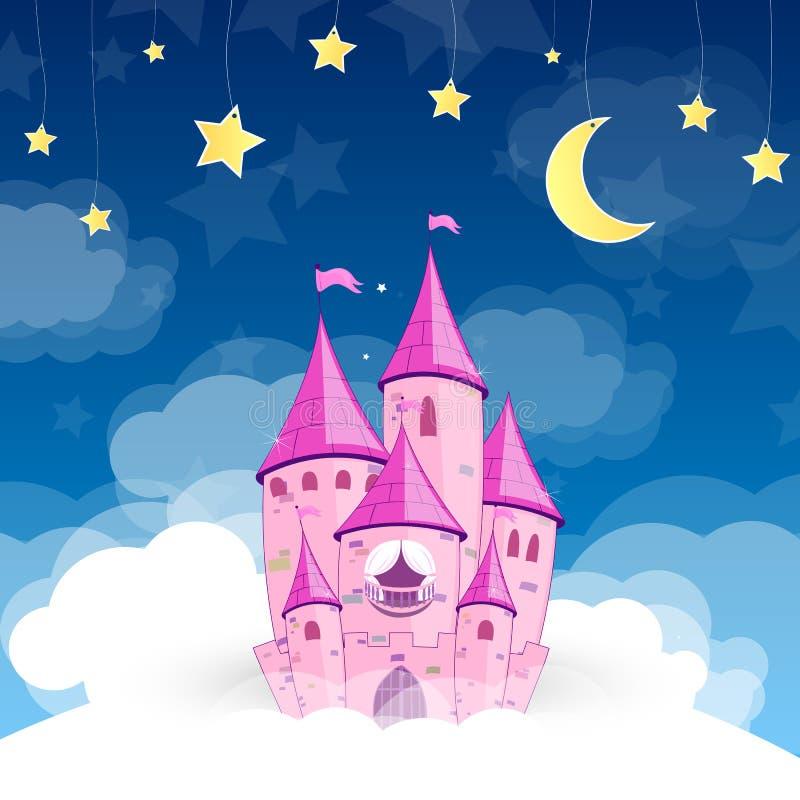 Castillo de la princesa stock de ilustración