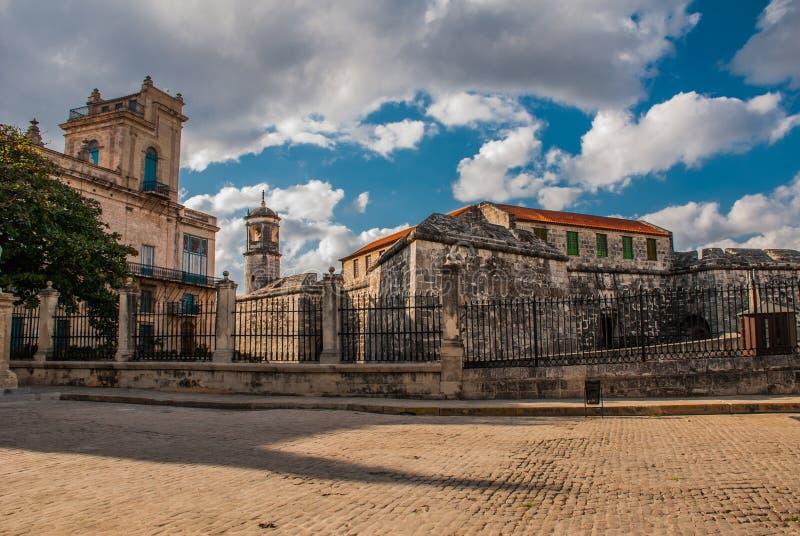 Castillo de la Real Fuerza Das alte Festung Schloss der königlichen Kraft, Havana, Kuba stockbilder