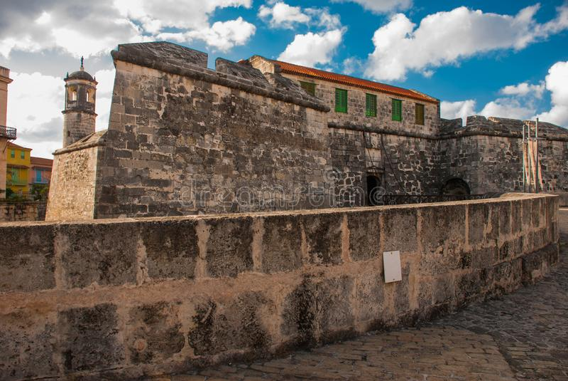 Castillo de la Real Fuerza Das alte Festung Schloss der königlichen Kraft, Havana, Kuba stockbild