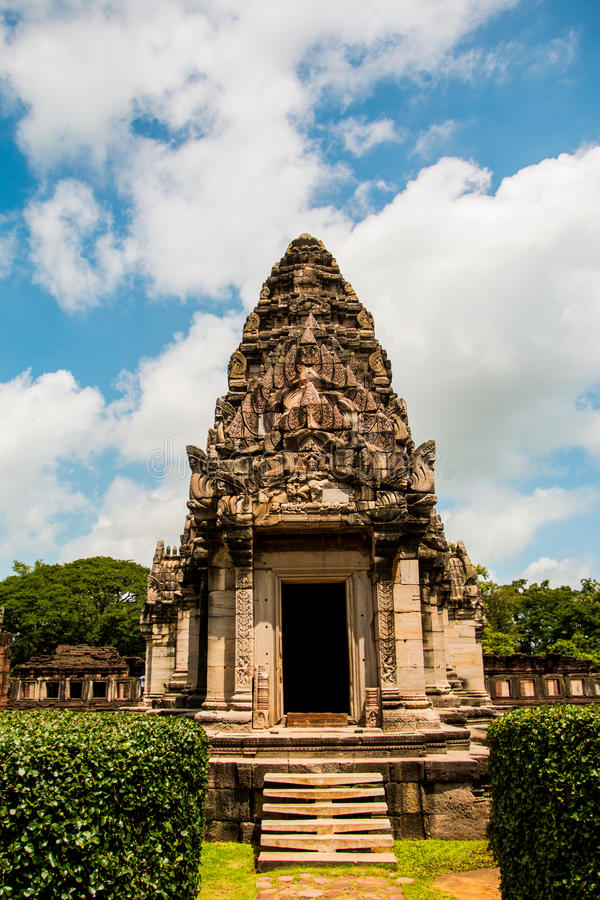 Castillo de la roca de Prasat Hin en el parque histórico Nakonratchasima de Phimai imágenes de archivo libres de regalías