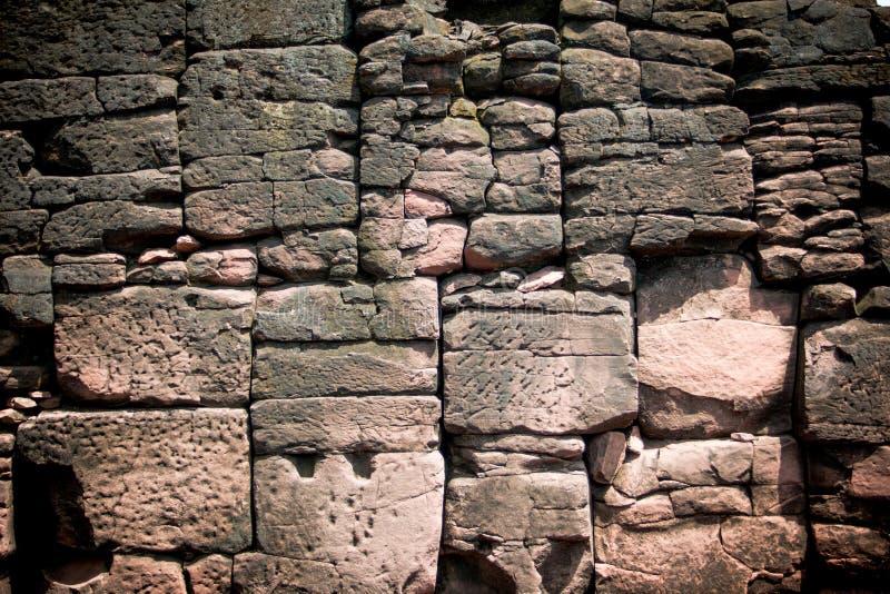 Castillo de la roca de Prasat Hin en el parque histórico Nakonratchasima de Phimai imagen de archivo libre de regalías