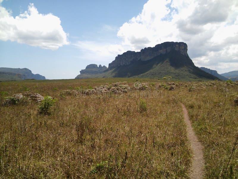 Castillo de la roca en Chapada Diamantina, el Brasil fotos de archivo