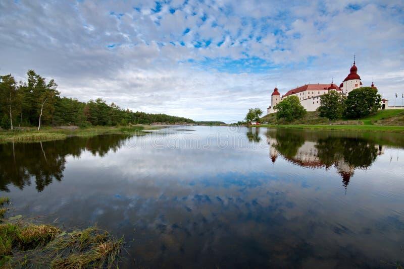 Castillo de Lacko en Suecia fotografía de archivo
