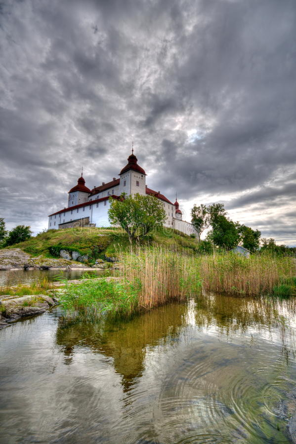 Castillo de Lacko en Suecia imagen de archivo