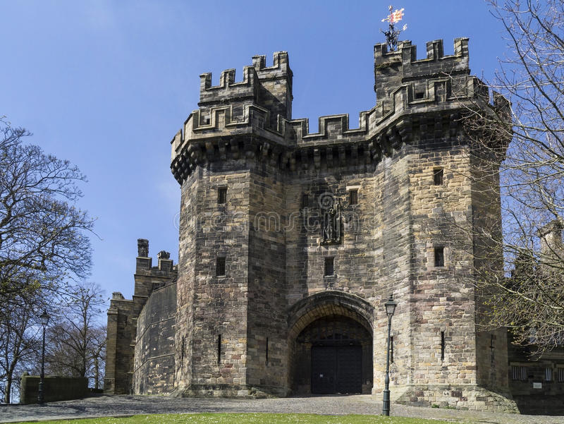 Castillo de Lancaster - Lancaster - Inglaterra fotos de archivo