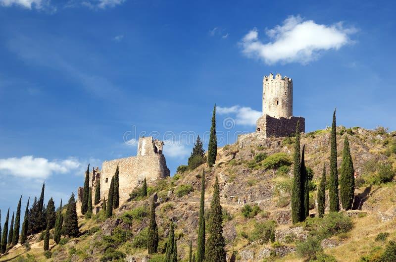 Castillo DE Lastours 2 stock foto's