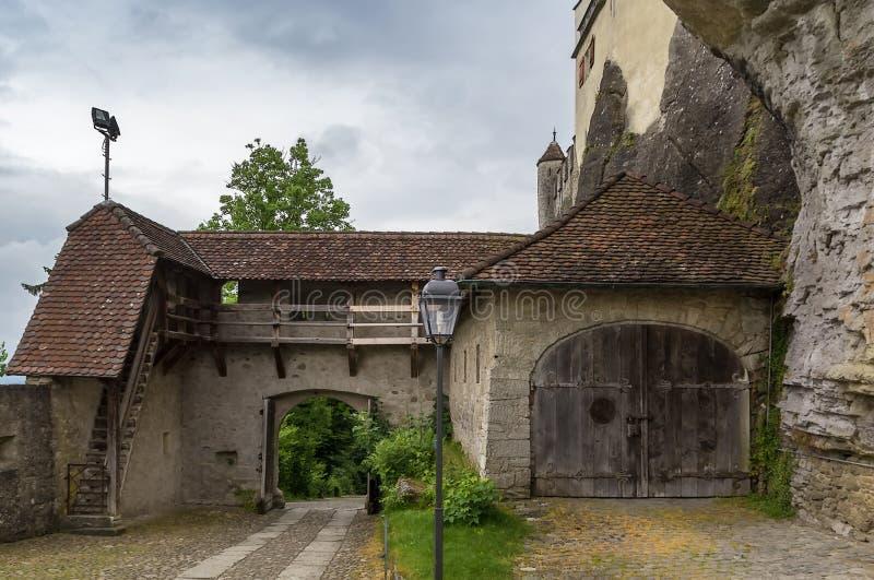 Castillo de Lenzburg, Suiza fotografía de archivo