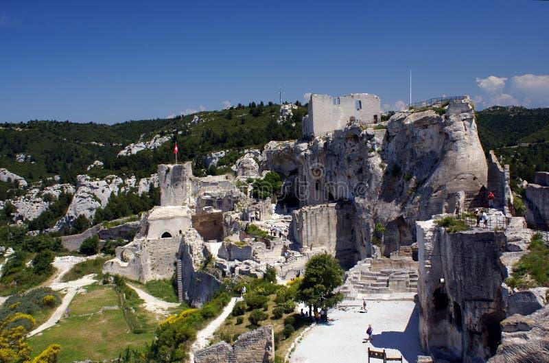 Castillo de Les Baux de Provence, Francia fotos de archivo