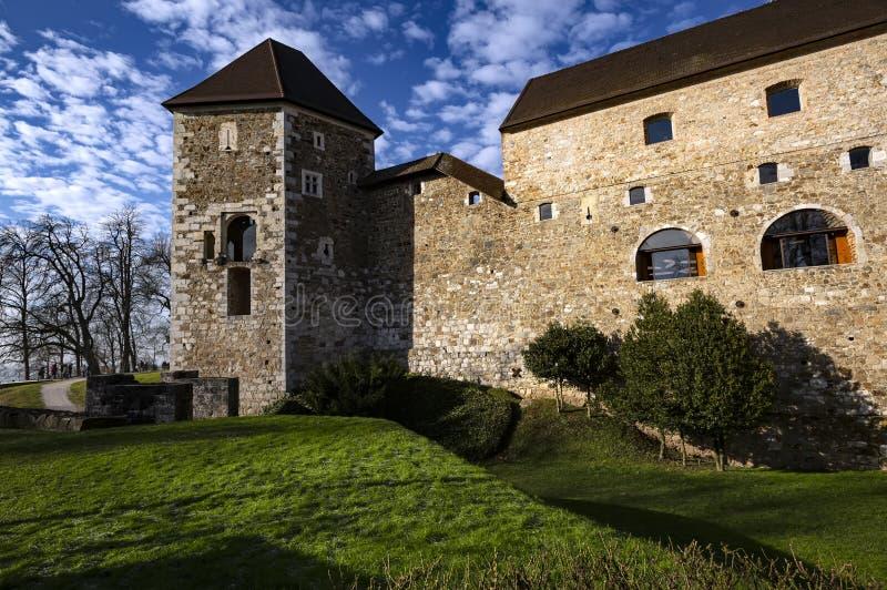 Castillo de Ljubljana, Eslovenia fotos de archivo libres de regalías