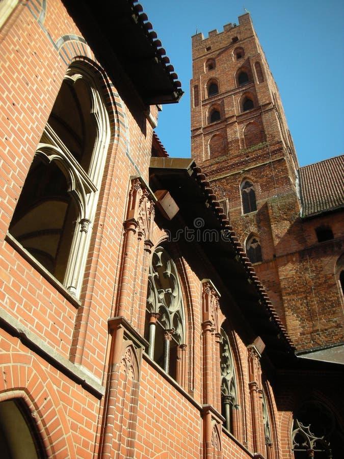 Castillo de los caballeros teutónicos imagen de archivo
