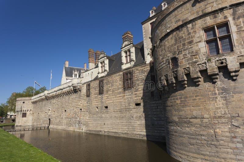 Castillo de los duques de Bretaña, Nantes foto de archivo libre de regalías