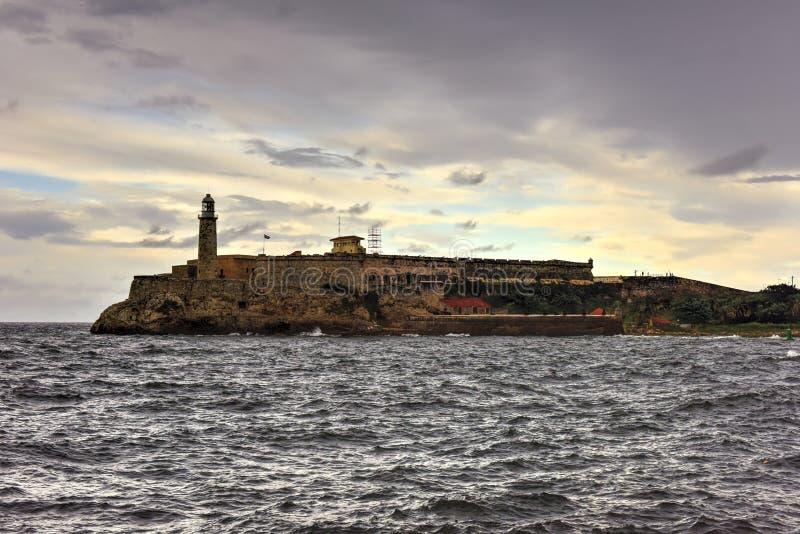 castillo de los Tres雷耶斯del Morro 免版税库存照片
