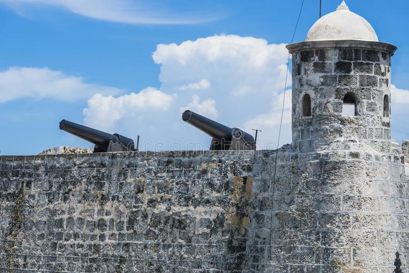 Castillo de Los Tres Reyes del Morro είναι ένα φρούριο στην κουβανική Αβάνα στοκ φωτογραφία με δικαίωμα ελεύθερης χρήσης
